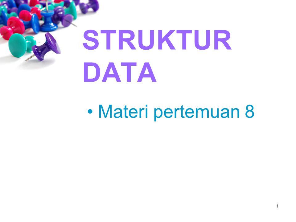 STRUKTUR DATA Materi pertemuan 8 1