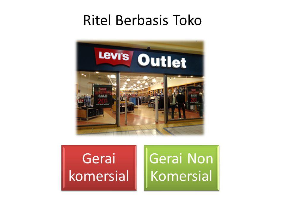 Ritel Berbasis Toko Gerai komersial Gerai Non Komersial
