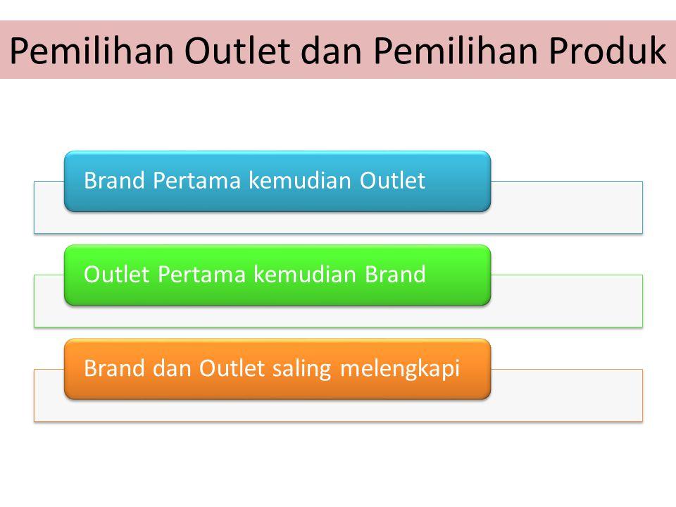 Pemilihan Outlet dan Pemilihan Produk Brand Pertama kemudian OutletOutlet Pertama kemudian BrandBrand dan Outlet saling melengkapi