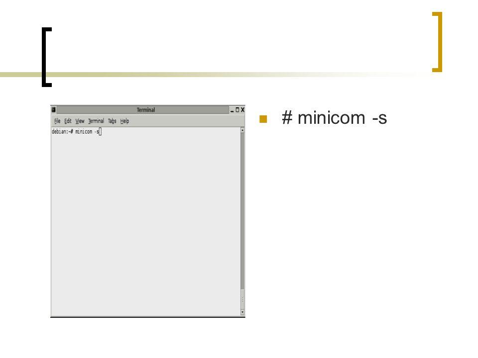 # minicom -s