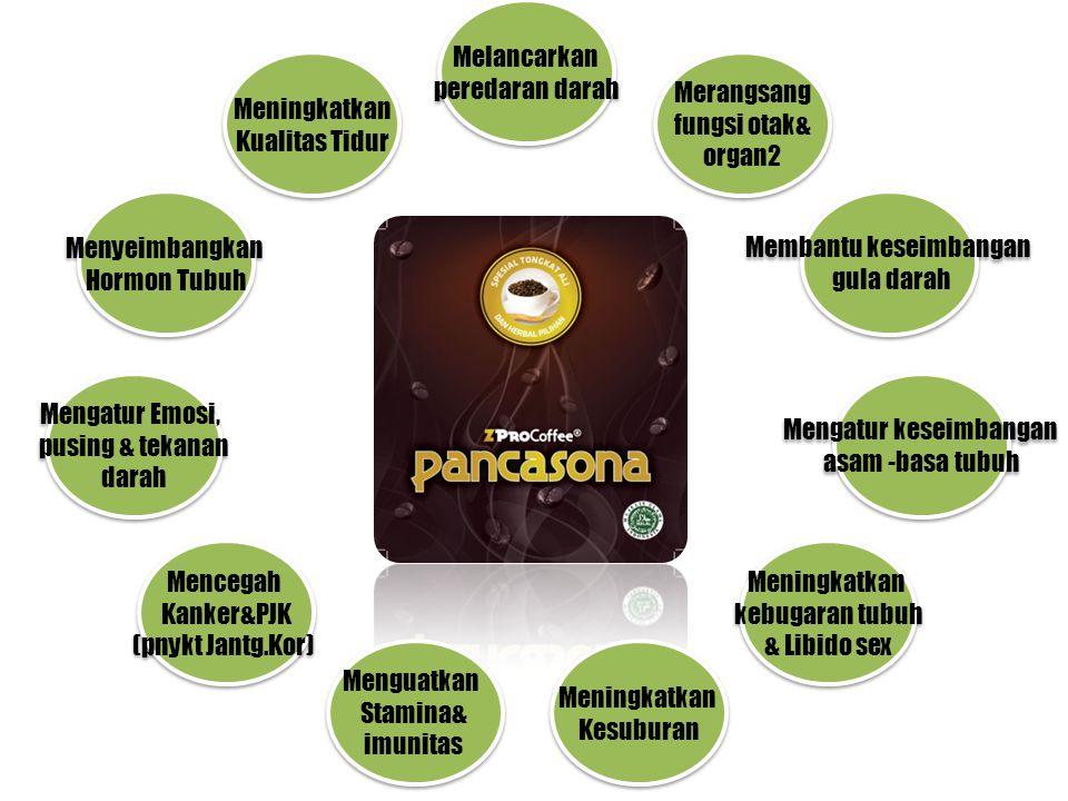 Diformulasi lebih dari 25 komponen herbal(tanaman obat) yang bersinergi dan unik. Racikan PANCASONA mempunyai multi khasiat kesehatan yang dahsyat.. s