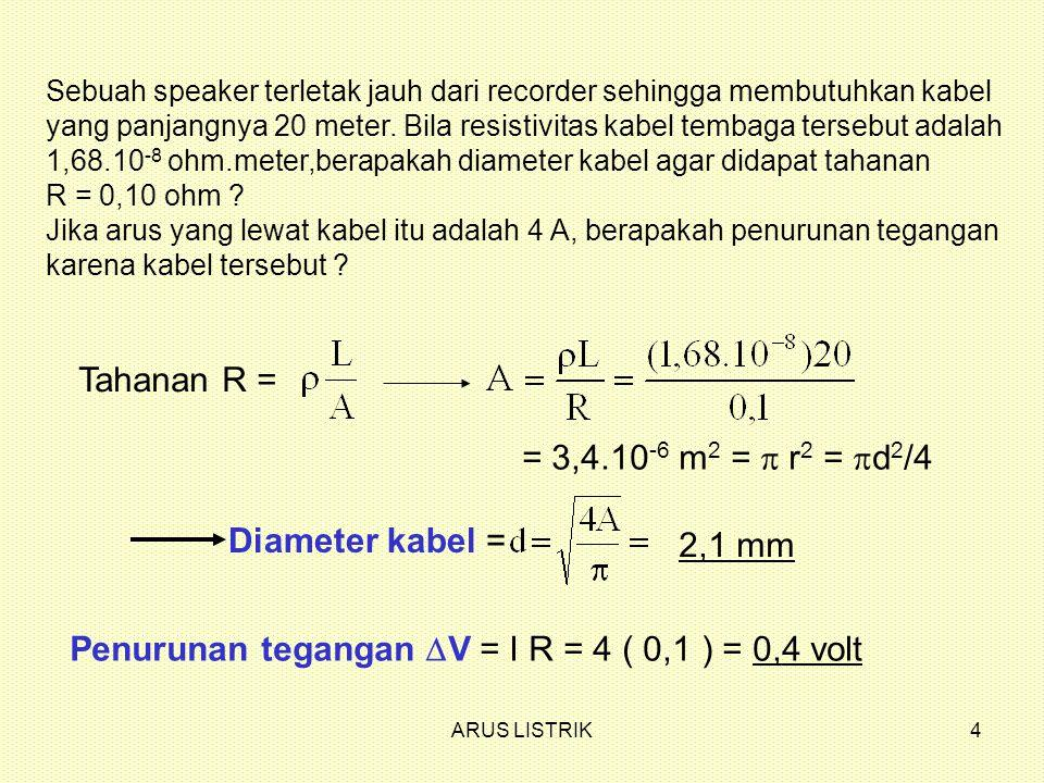 ARUS LISTRIK5 i RR i total R R .