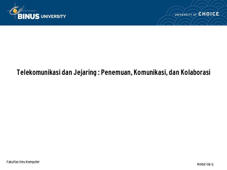 Fakultas Ilmu Komputer Modul-06-33
