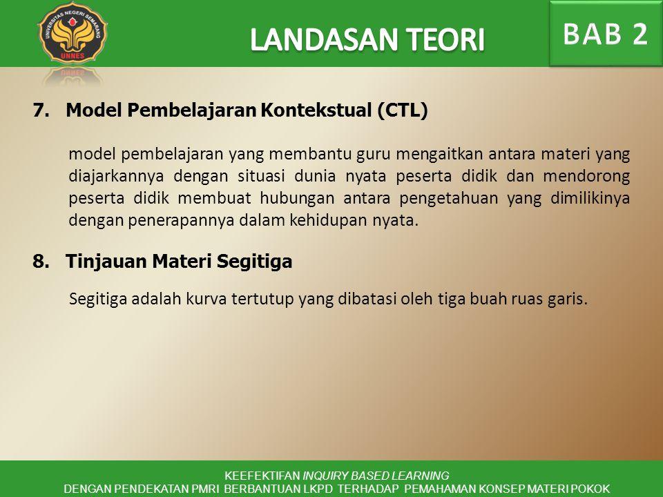 7.Model Pembelajaran Kontekstual (CTL) KEEFEKTIFAN INQUIRY BASED LEARNING DENGAN PENDEKATAN PMRI BERBANTUAN LKPD TERHADAP PEMAHAMAN KONSEP MATERI POKO