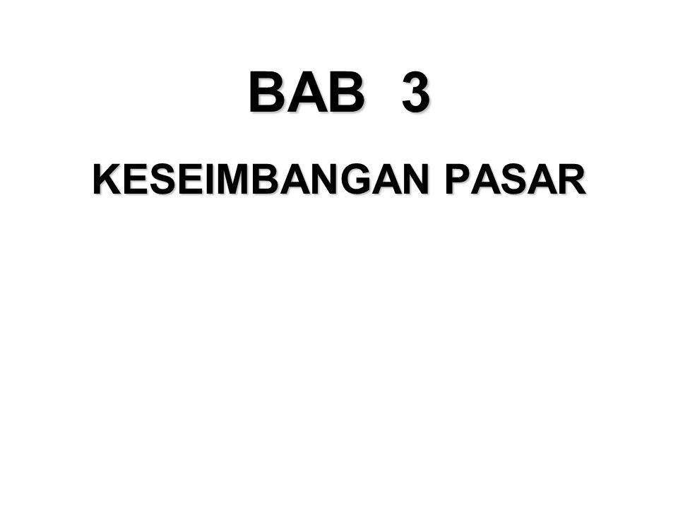 KESEIMBANGAN PASAR BAB 3