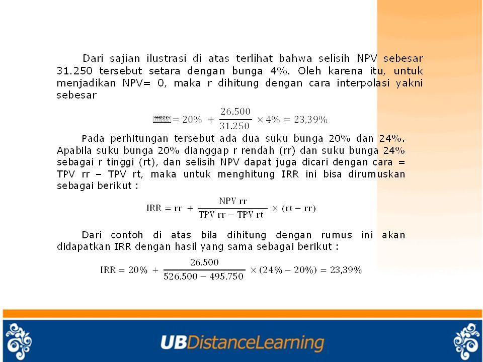 Perhitungan-Perhitungan Nilai Uang Dari Waktu A.
