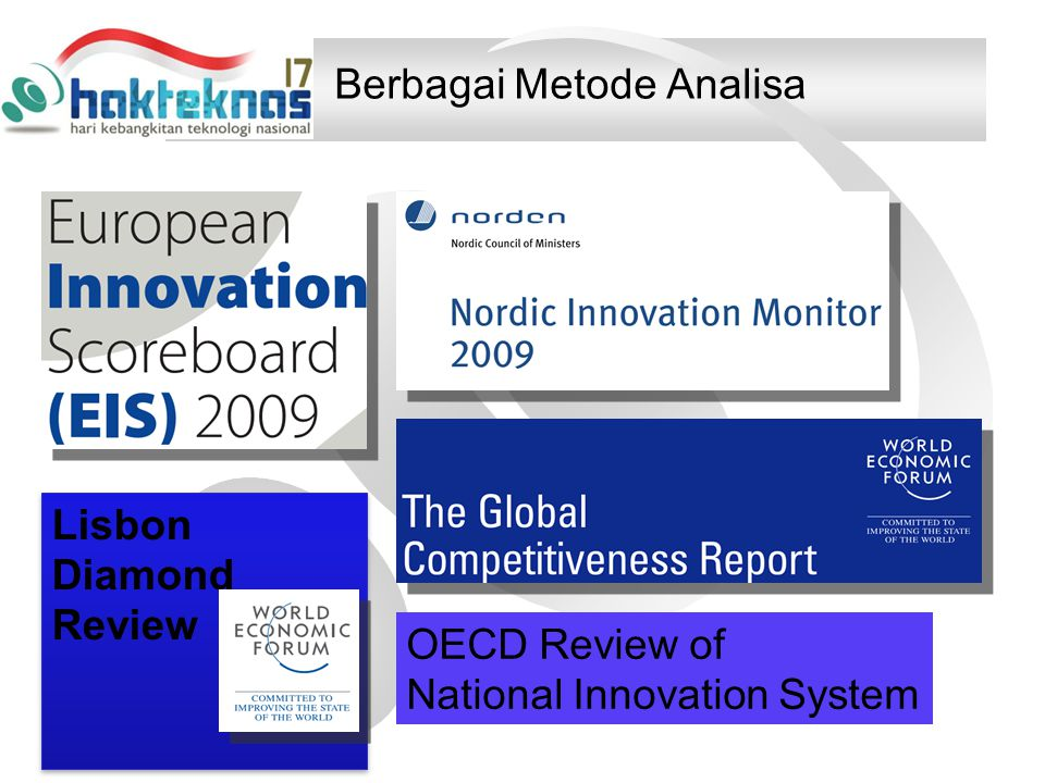 Berbagai Metode Analisa Lisbon Diamond Review OECD Review of National Innovation System