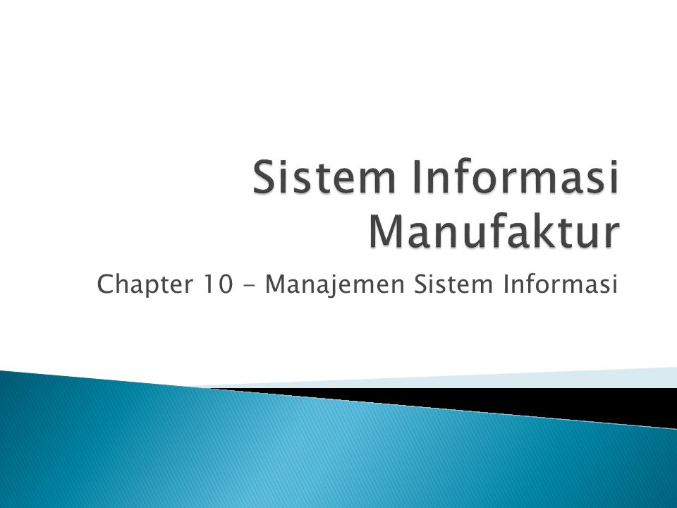 Chapter 10 - Manajemen Sistem Informasi