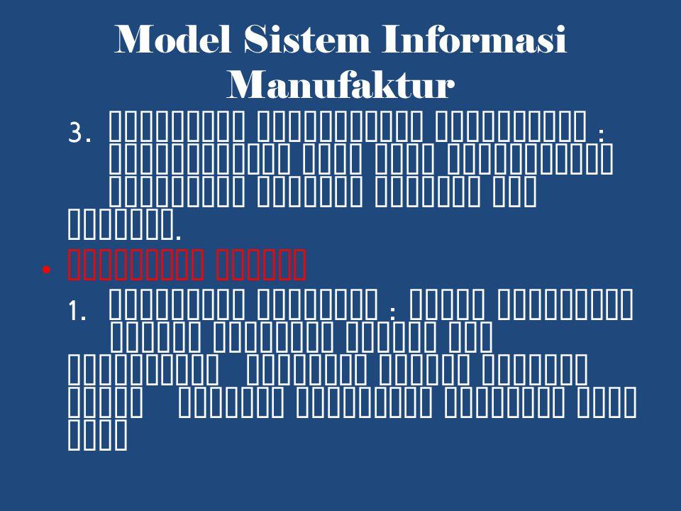 Model Sistem Informasi Manufaktur 3.