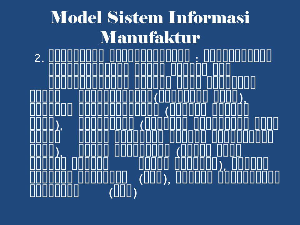 Model Sistem Informasi Manufaktur 2.