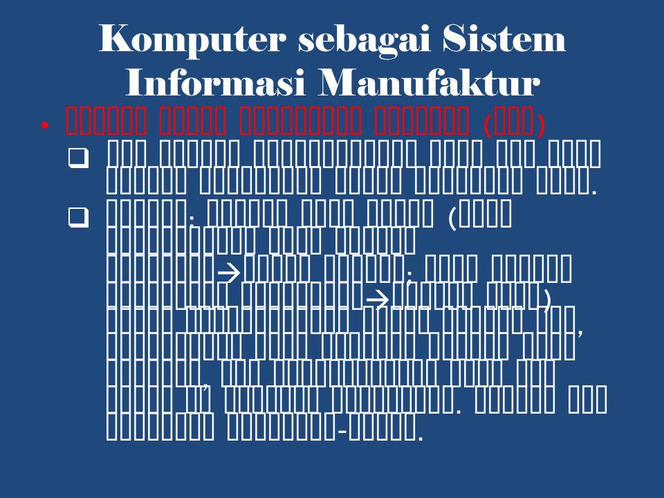 Komputer sebagai Sistem Informasi Manufaktur Sistem Point Pemesanan Kembali ( ROP )  ROP adalah keseimbangan yang ada yang memicu pemesanan untuk menambah stok.
