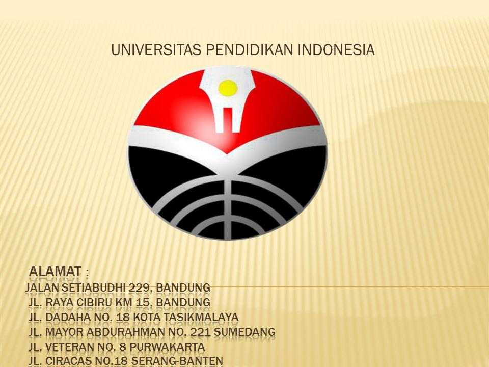  UPI adalah perguruan tinggi yang menganut sistem multikampus, yaitu dengan 6 kampus yang tersebar di dua provinsi yaitu Jawa Barat dan Banten.