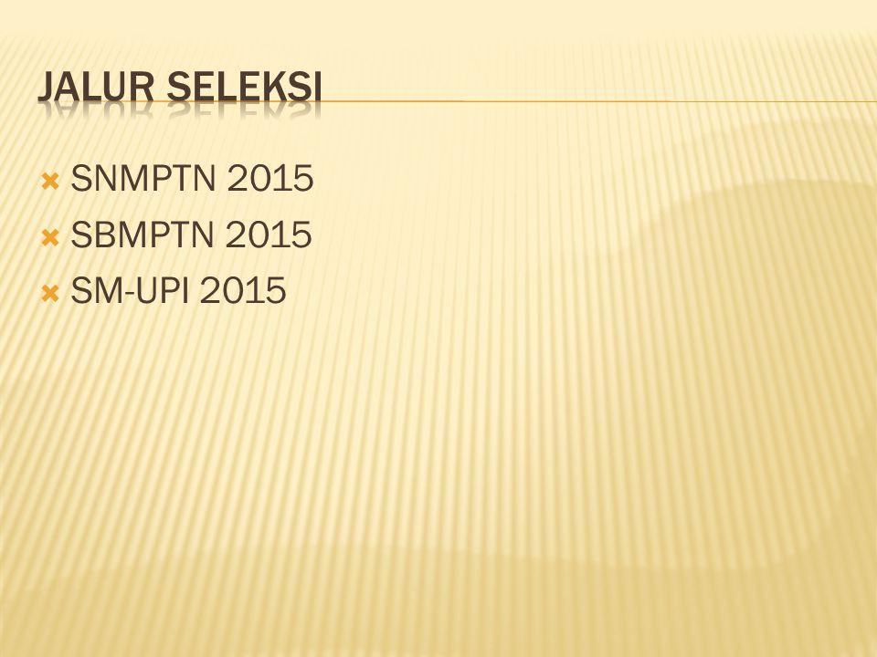  SNMPTN 2015  SBMPTN 2015  SM-UPI 2015