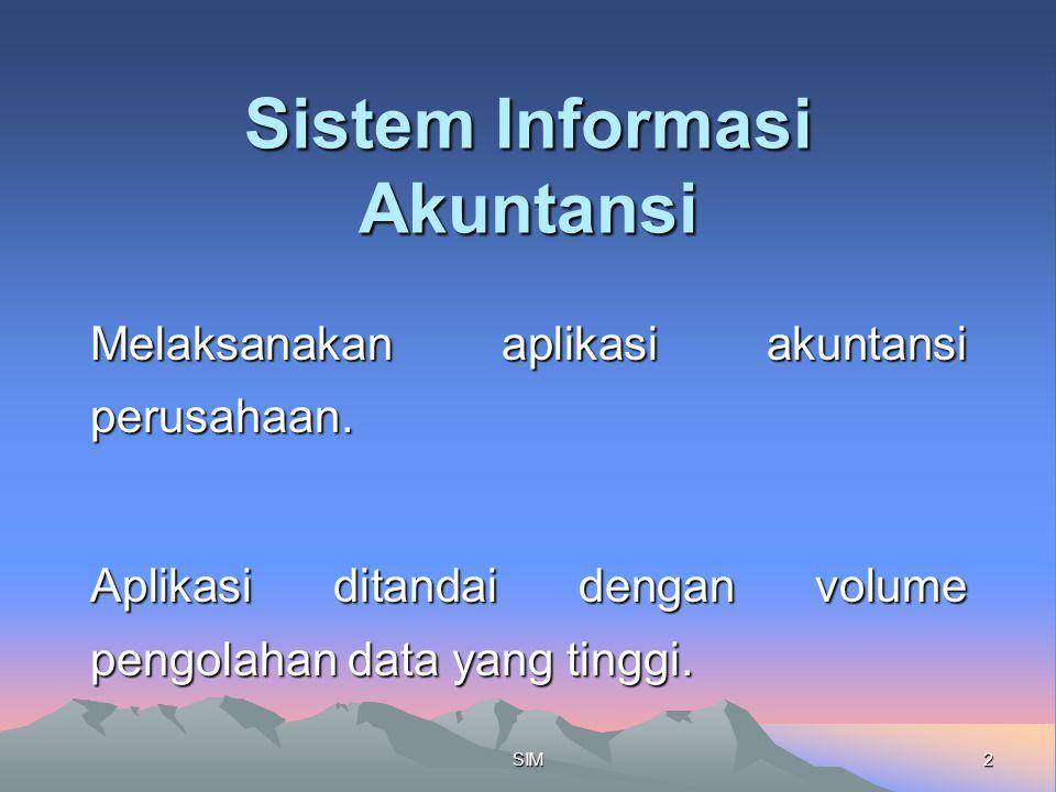 2SIM Sistem Informasi Akuntansi Melaksanakan aplikasi akuntansi perusahaan.