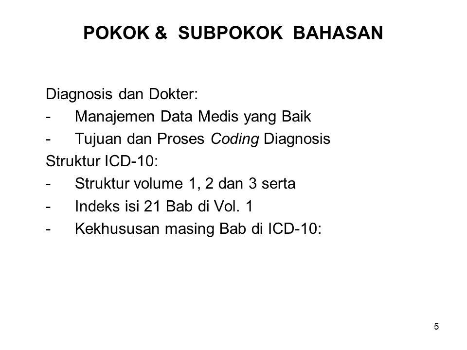 46 Soal – Soal Latihan 1.Ada berapa Bab di dalam Volume 1 ICD-10.