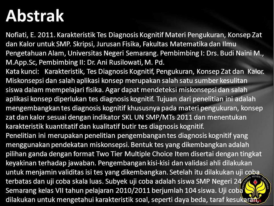 Abstrak Nofiati, E. 2011.