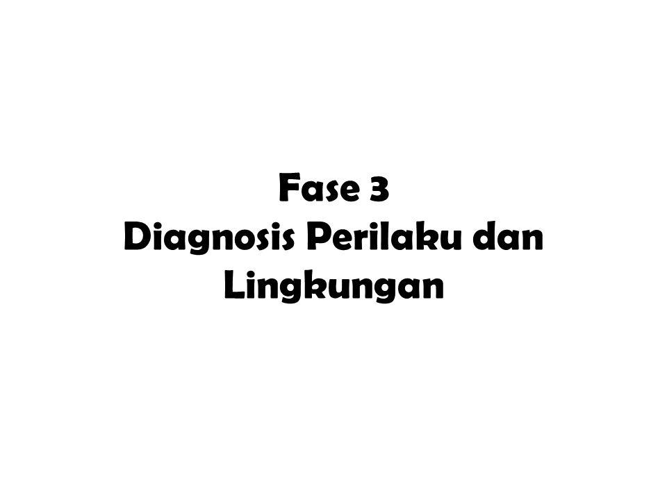 Fase 3 Diagnosis Perilaku dan Lingkungan