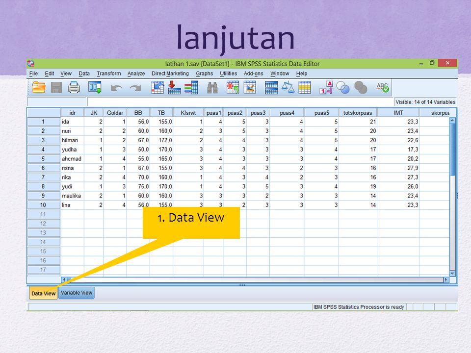 Mendefinisikan variabel Aktifkan variabel view Isikan nama variabel dalam kolom name Pada kolom type klik pada tombol di sebelah kanan Selanjutnya muncul kotak dialog variable type Pilih tombol string untuk memilih tipe data yang sesuai Klik tombol OK untuk melanjutkan