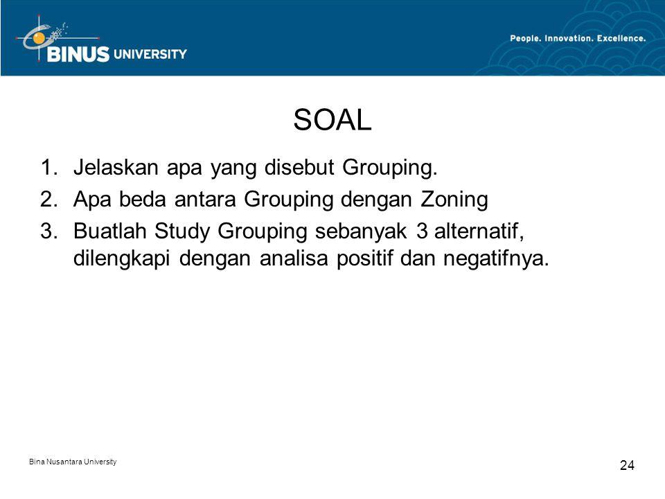 SOAL 1.Jelaskan apa yang disebut Grouping.