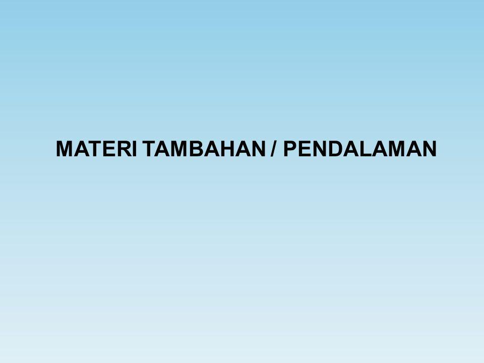 MATERI TAMBAHAN / PENDALAMAN