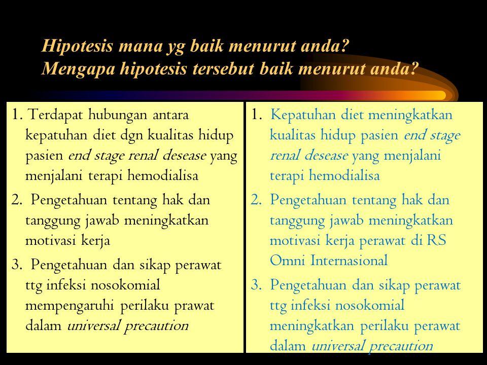 Karakteristik Hipotesis 4.
