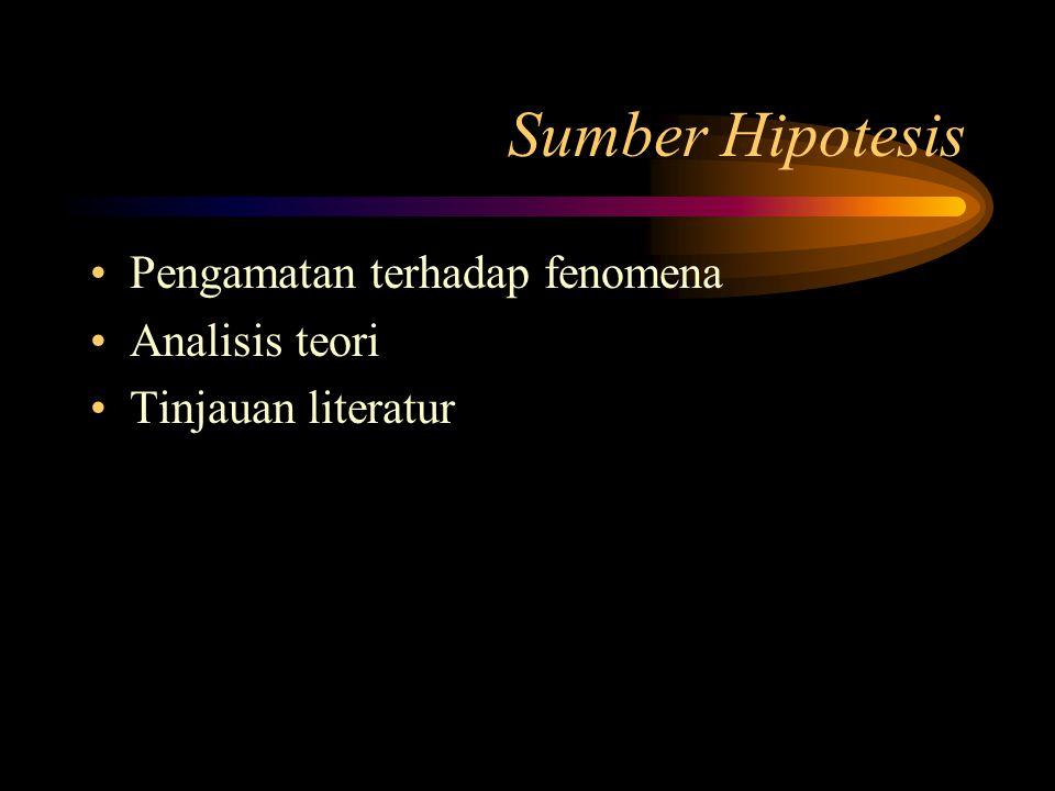 Jenis Hipotesis 2.