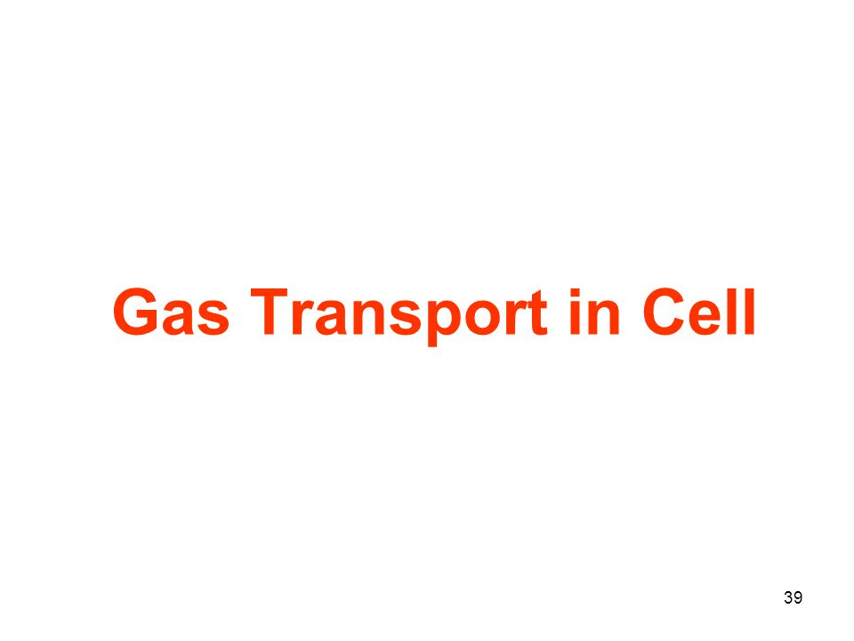 39 Gas Transport in Cell
