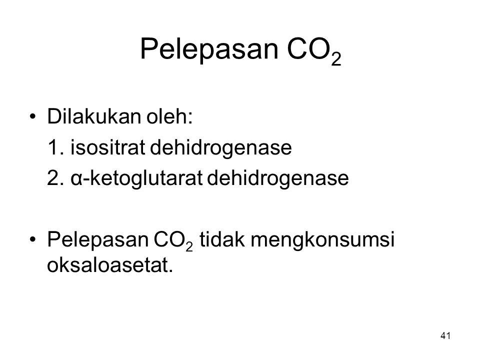41 Dilakukan oleh: 1.isositrat dehidrogenase 2.