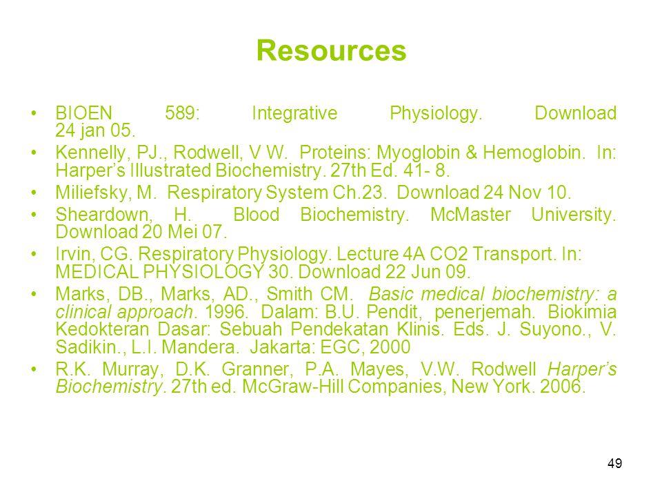 49 Resources BIOEN 589: Integrative Physiology.Download 24 jan 05.