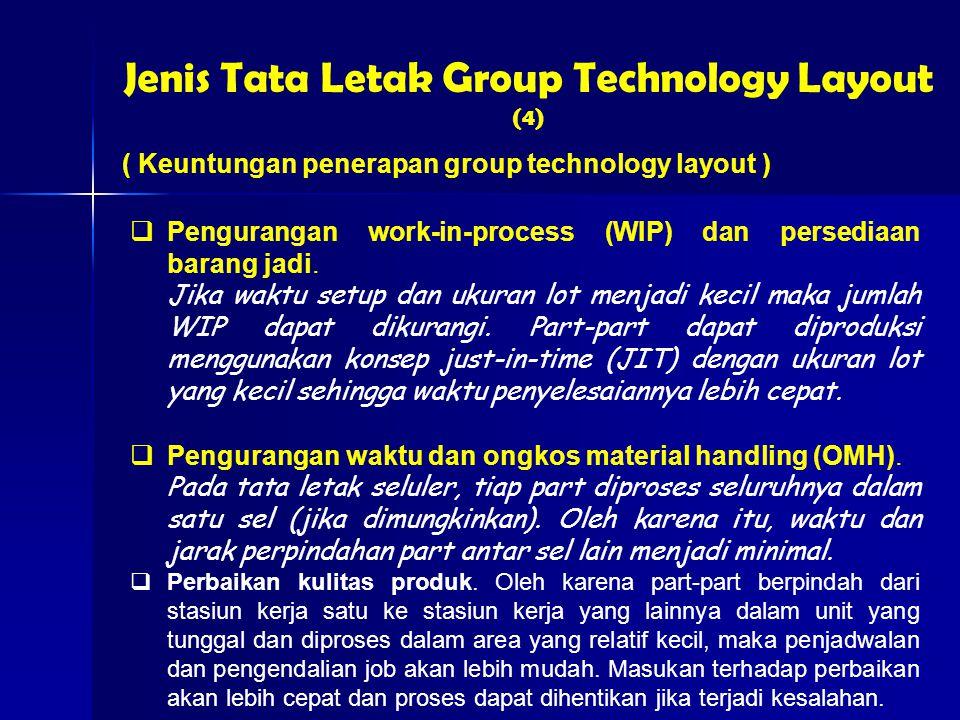  Pengurangan work-in-process (WIP) dan persediaan barang jadi.
