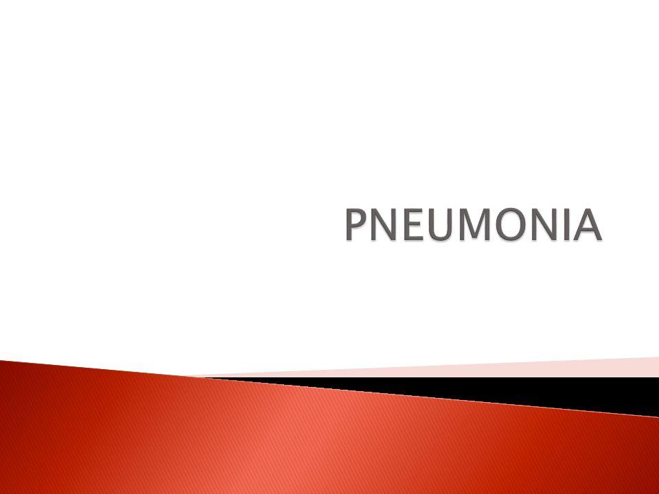  Pneumonia adalah peradangan alat parenkim paru, distal dari bronkiolus terminalis yang mencakup bronkiolus respiratorius dan alveoli, yang disebabkan oleh mikro- organisme (bakteri, virus, jamur, protozoa)