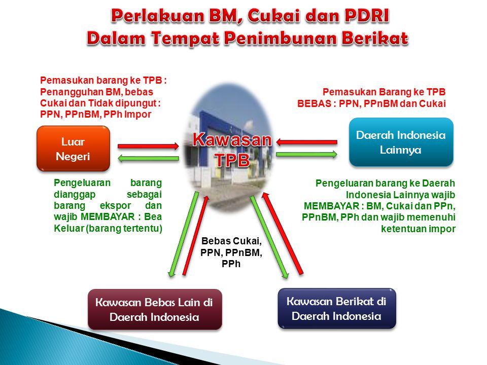 Tempat untuk menimbun barang impor dalam jangka waktu tertentu yang di dalamnya dilakukan kegiatan daur ulang limbah asal impor dan/atau asal Daerah P
