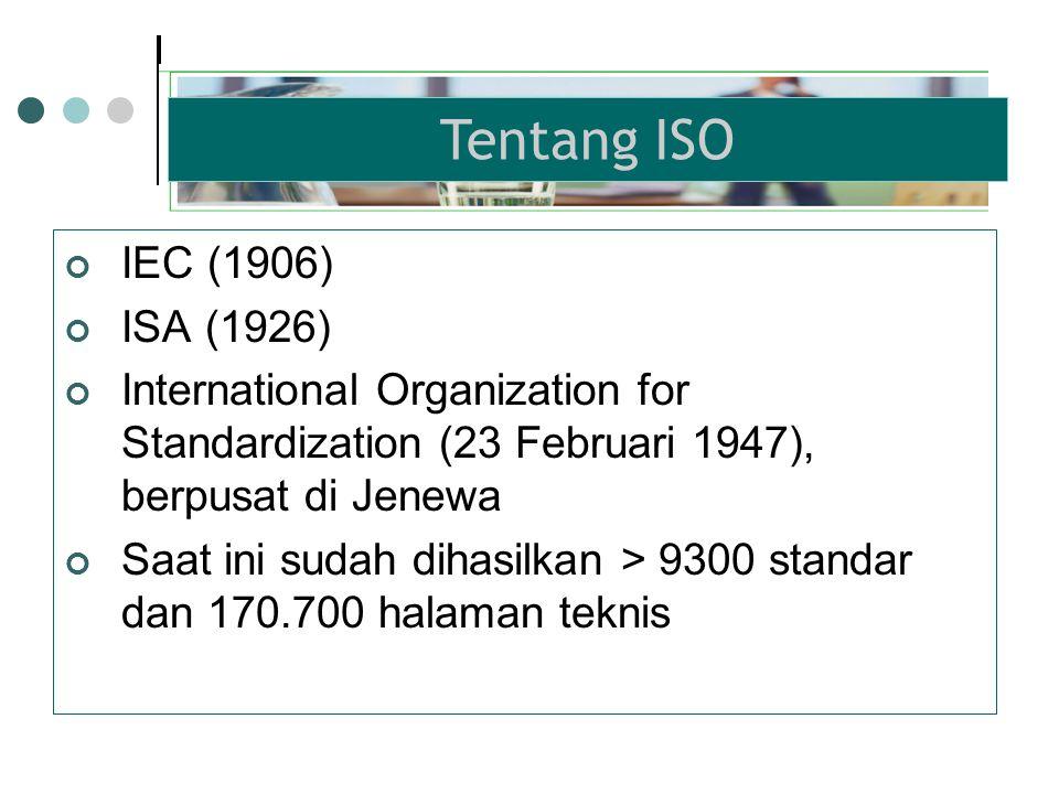Standar internasional yang berisi syarat-syarat untuk mengadakan, mengimplementasikan serta mengoperasikan Sistem Manajemen Lingkungan (SML) Seri ISO