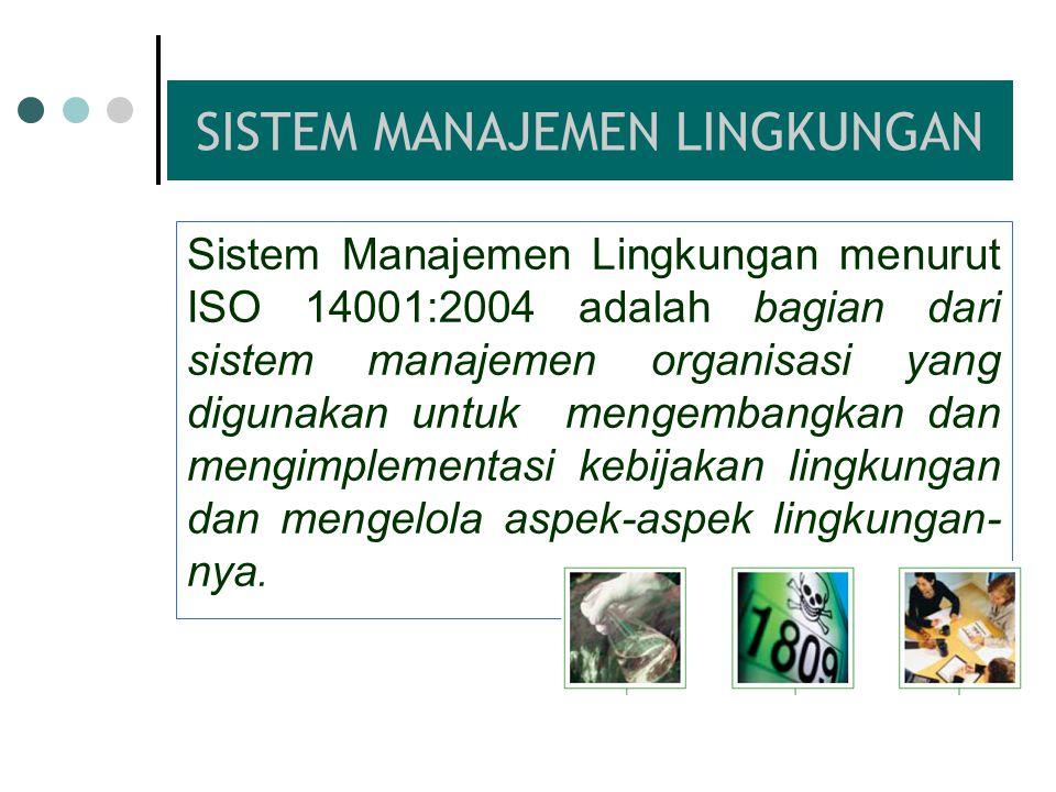 Kriteria Standar Sistem Manajemen Generic – aplikabel untuk semua jenis organisasi/perusahaan Sistem Manajemen – mengacu kepada apa yang dilakukan sua