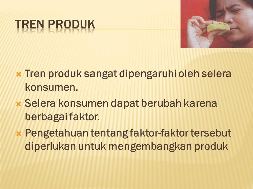  Tren produk sangat dipengaruhi oleh selera konsumen.
