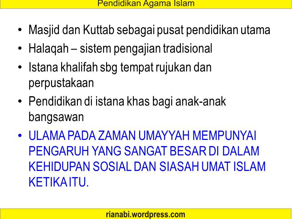 Sistem Pendidikan Masa Umayyah