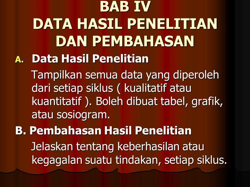 BAB IV DATA HASIL PENELITIAN DAN PEMBAHASAN A.