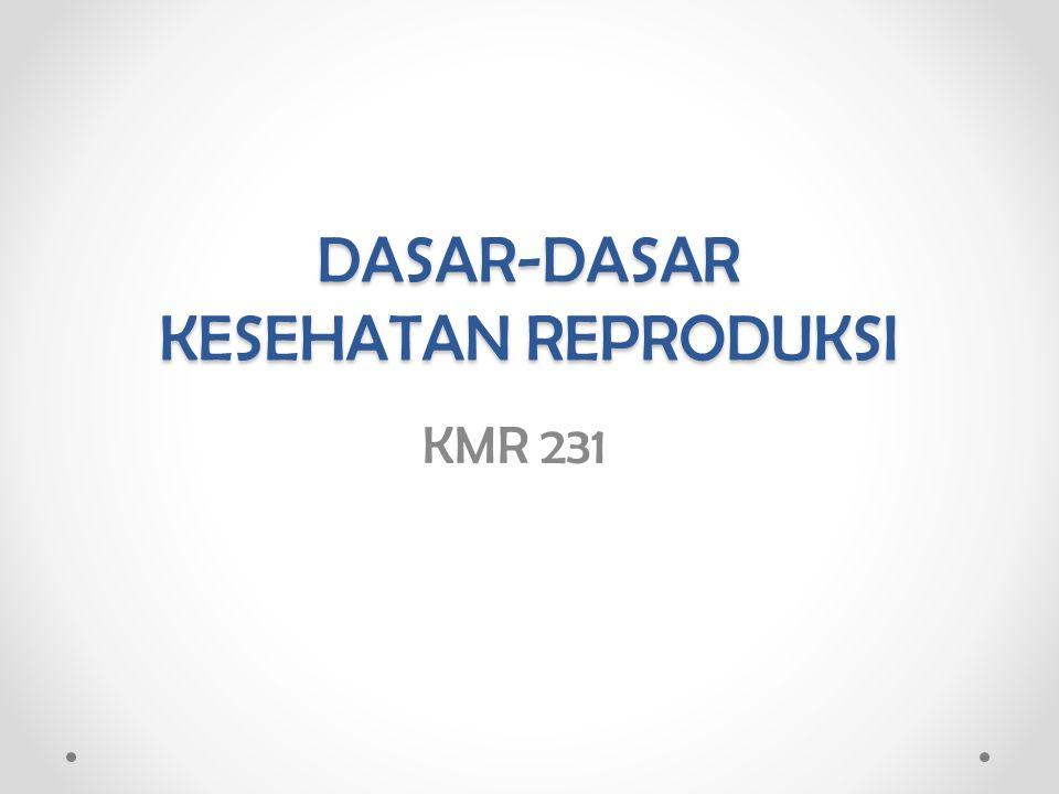 Profil Mata Kuliah Nama MK: Dasar-dasar Kesehatan Reproduksi Kode Mata Kuliah: KMR 231 Semester: 3 SKS: 2 / 2-0 Tahun Akademik: 2013 – 2014 Jadwal Kuliah: Kelas B : Kamis, pk.