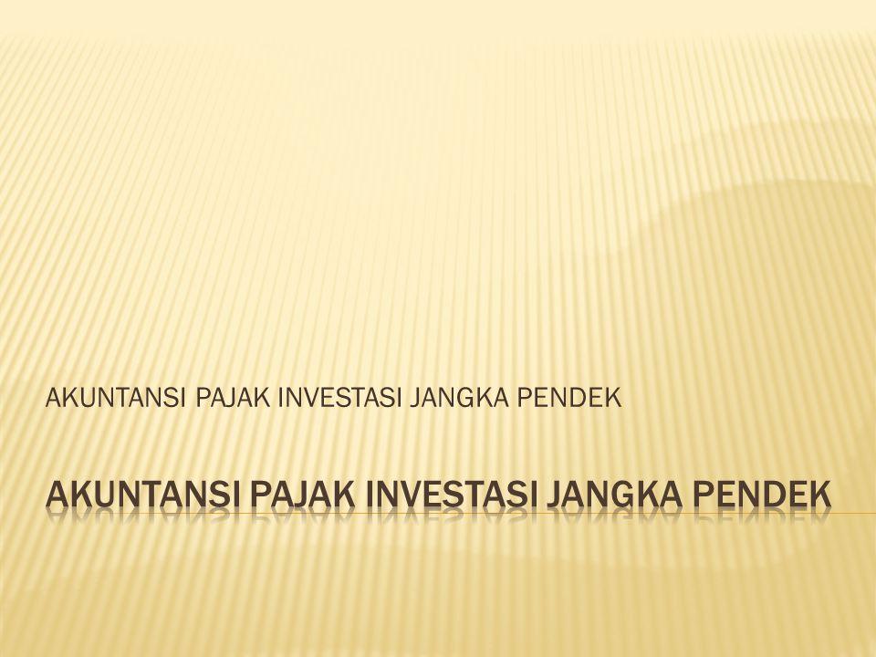 Investasi Jangka Pendek : Aset yang tingkat likuiditasnya sangat tinggi, artinya besarnya investasi jangka pendek menunjukkan kemampuan perusahaan untuk membayar hutang jangka pendek.