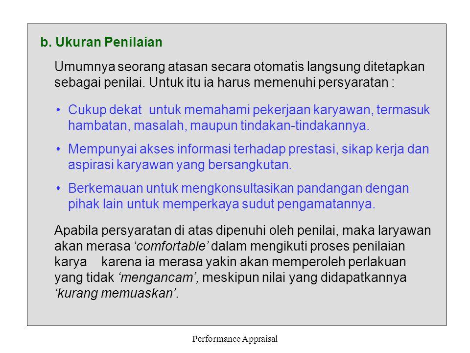 Performance Appraisal c.