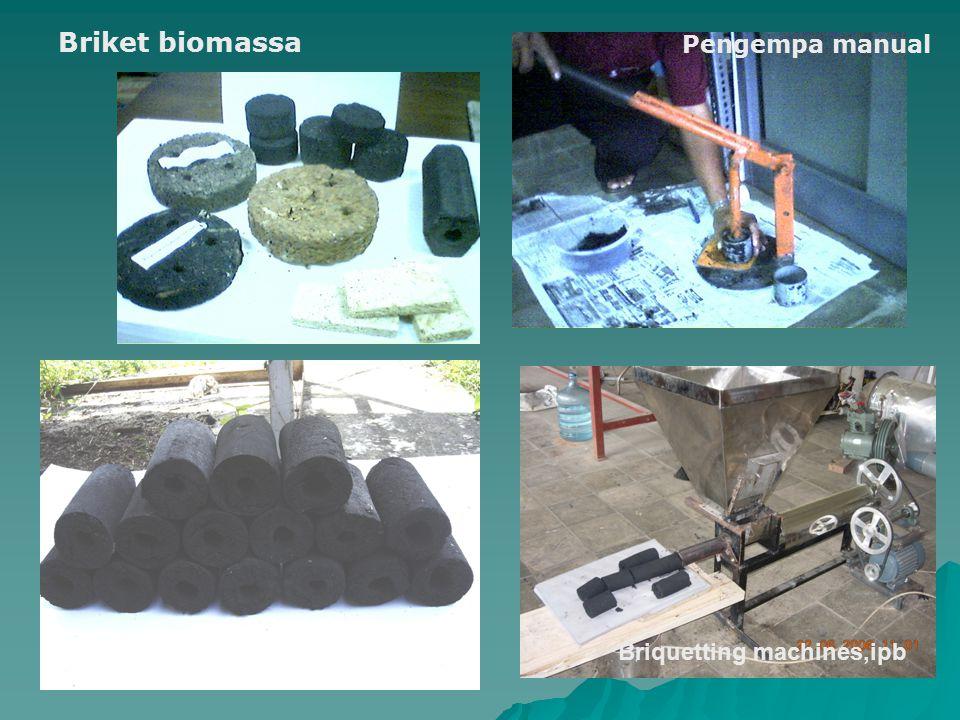 Briquetting machines,ipb Briket biomassa Pengempa manual