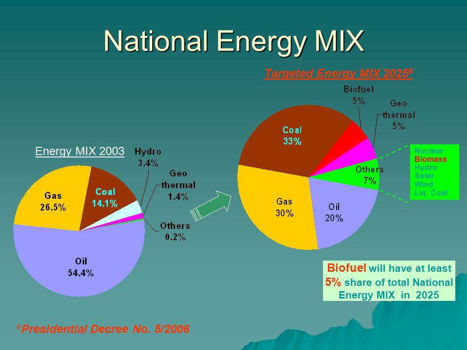 National Energy MIX Nuclear Biomass Hydro Solar Wind Liq.
