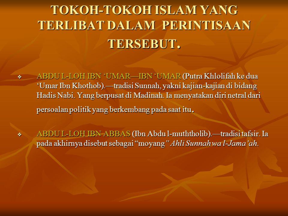 KONFLIK DAN UPAYA REKONSILIASI Muncul dalam sejarah Islam Al-Fitnah al- Kubra ( mala petaka besar/sejarah hitam dalam islam ) semenjak kejadian terbunuhnya Khalifah yang ke tiga 'Usman Ibn 'Affan.
