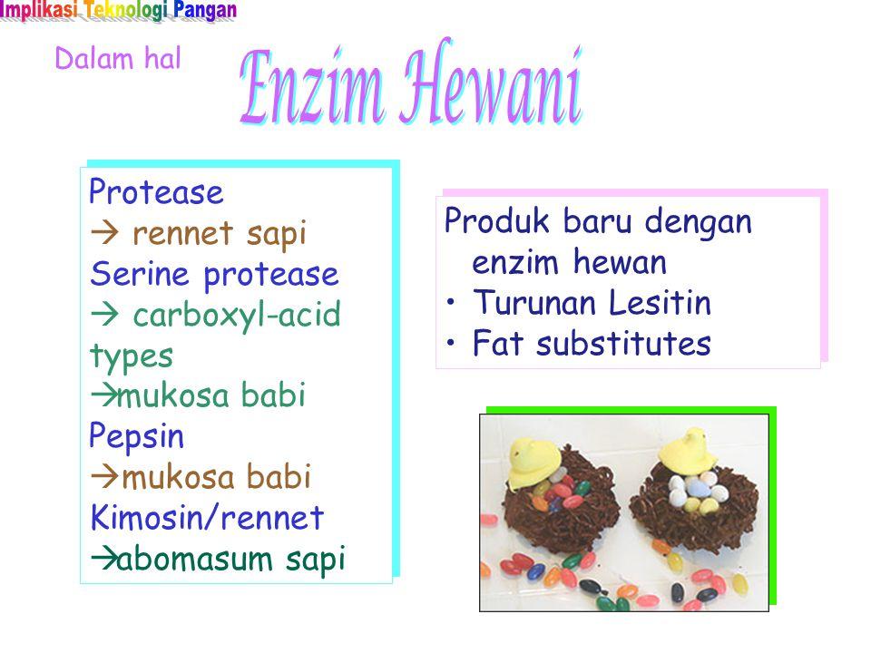 Dalam hal Produk baru dengan enzim hewan Turunan Lesitin Fat substitutes Produk baru dengan enzim hewan Turunan Lesitin Fat substitutes Protease  ren
