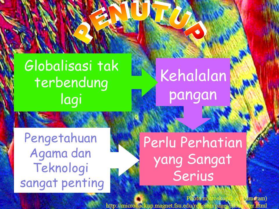 Kehalalan pangan Perlu Perhatian yang Sangat Serius Globalisasi tak terbendung lagi Pengetahuan Agama dan Teknologi sangat penting Photo microskopik a