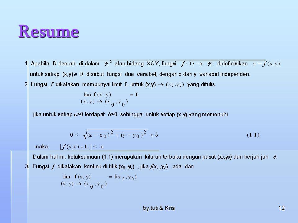 by.tuti & Kris12 Resume