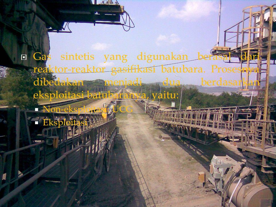  UCG ( Packed Bed)  UCG adalah proses gasifikasi batubara secara insitu.