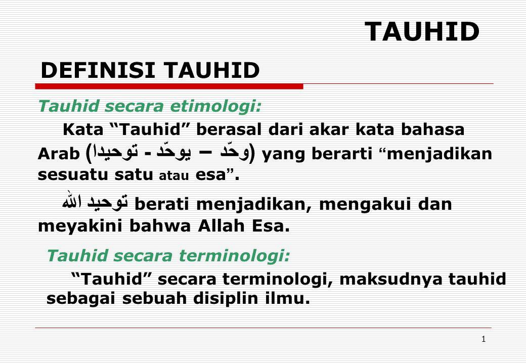 12 URGENSI KULIAH TAUHID KKesalahpahaman tentang ajaran Islam mis.