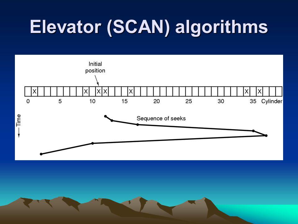 Elevator (SCAN) algorithms