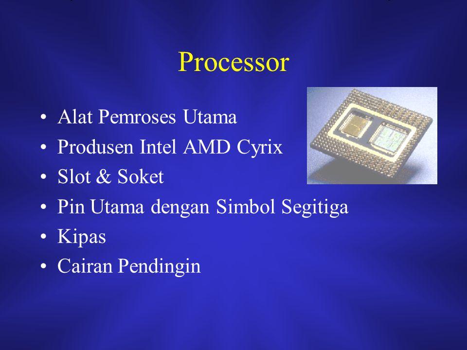 Processor Alat Pemroses Utama Produsen Intel AMD Cyrix Slot & Soket Pin Utama dengan Simbol Segitiga Kipas Cairan Pendingin